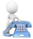 21012745-call-the-dude-pointing-at-a-classic-telephone-blue-with-white-label